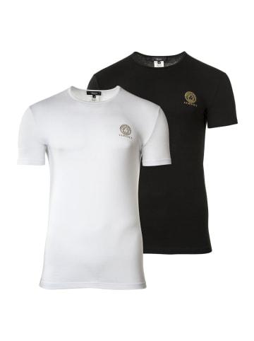 Versace T-Shirt 2er Pack in Weiß/Schwarz
