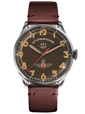 Sturmanskie Herrenuhr Gagarin Vintage Retro Braun / Silber