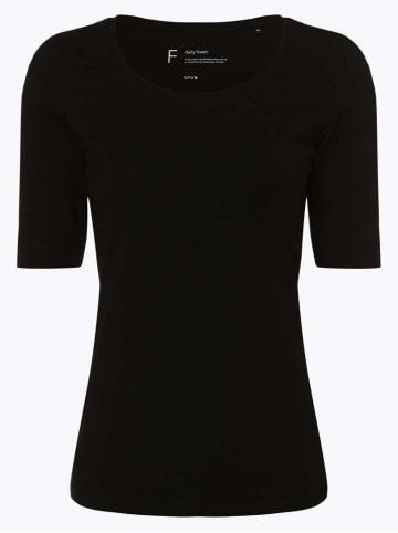 OPUS Rundhals T-Shirt in schwarz