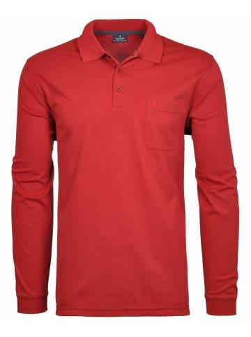 Ragman Poloshirt langarm in rot