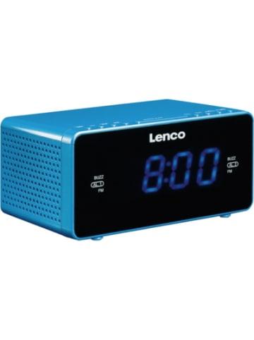 Lenco CR-520BU - FM-Radiowecker (stereo) mit USB-Ladefunktion und Dual-Alarm,...
