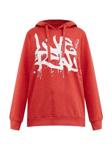 Finn Flare Kapuzensweatshirt in red melange