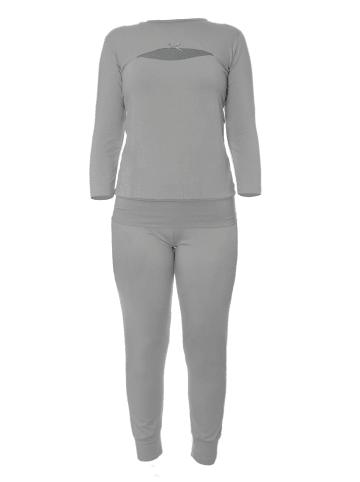 Lovelymama Stillpyjama aus Bambus in Grau