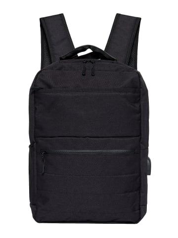 Pyato Rucksack mit schlichtem Design in schwarz