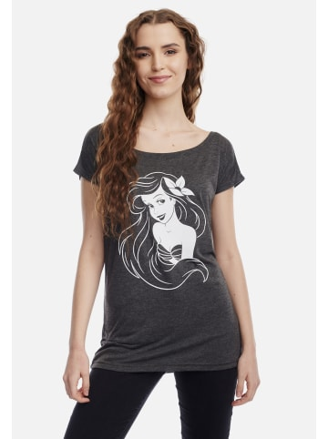 Disney The Little Mermaid Loose-Shirt Little Mermaid in dunkelgrau meliert