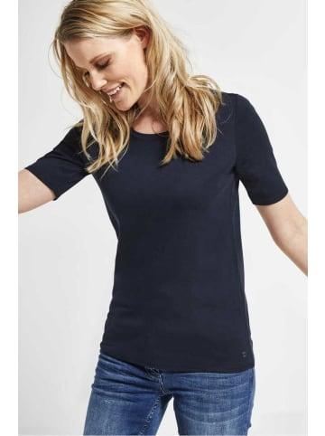 Cecil Rundhals T-Shirt in blau