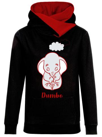 Disney Dumbo Kapuzensweatshirt Sleepy in schwarz/rot