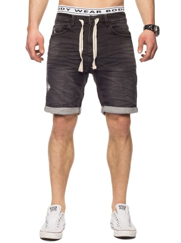 Sublevel Bermuda Sweat Jeans Shorts Stretch Pants in Dunkelgrau-4