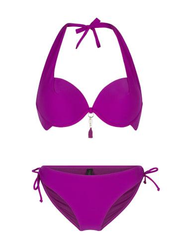 Linga Dore Halterneck bikiniset ZIA in Violett