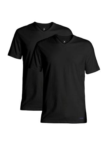 Ted Baker T-Shirt 2er-Pack V-Neck in Schwarz