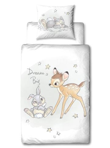 """Disney Mädchen Bettwäsche-Set """"Disney's Bambi"""" in Weiß"""