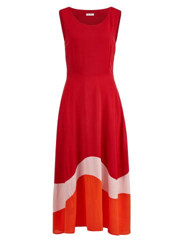 Alba Moda Kleid in Rot,Nude,Orange
