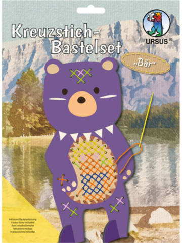 URSUS Kreuzstich-Bastelset Bär