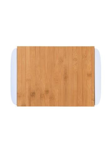 Butlers Bambusbrett mit 2 Auffangschalen L 32 x B 25cm BAMBOO in weiß