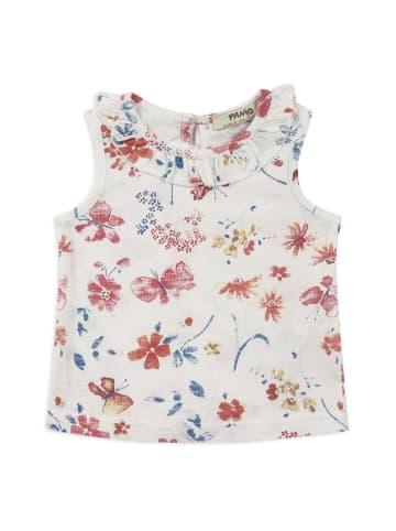 Panco Unterhemd - mit Blumendruck - für Mädchen in Weiß