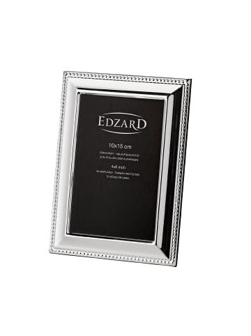 Edzard Bilderrahmen Perla in Silber, für Foto 10x15 cm, Versilbert & Anlaufgeschützt