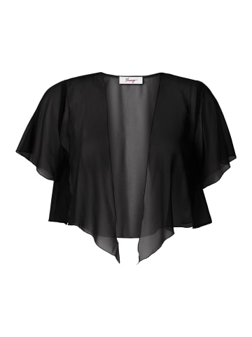 Sheego Chiffon-Bolero in schwarz