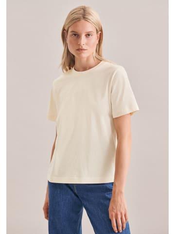Seidensticker T-Shirt Regular fit in Ecru