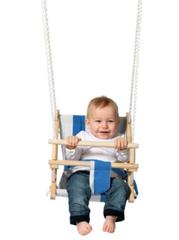 Twipsolino Stoff-Babyschaukel, blau/weiß gestreift