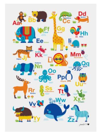 ByGraziela  Poster Tier ABC, 50 x 70 cm