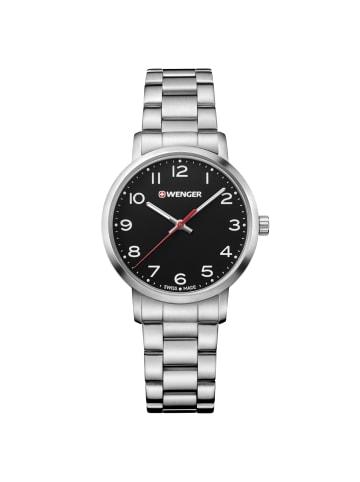 Wenger Avenue Quarzuhr Edelstahl in black-white-silver
