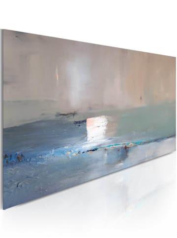 Artgeist Handgemalte Bild Erste Welle in Grau,Blau
