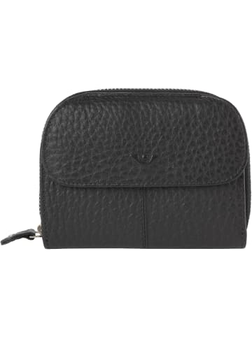 VLD VOi Leather Design Hirsch Randa Geldbörse Leder 13 cm in schwarz
