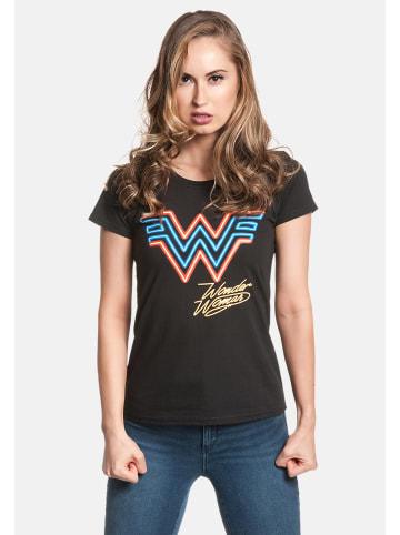 DC T-Shirt Wonderwoman Retro in schwarz