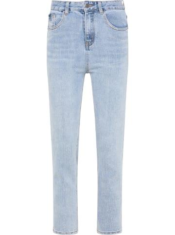 MyMo Mom Jeans in Hellblau Denim