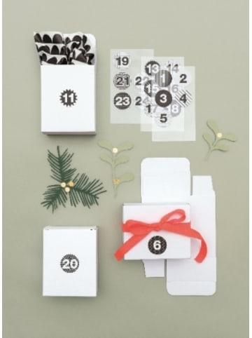 Rico Design Adventskalender Boxen Weiss, 24 Stück