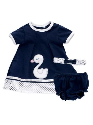Baby Sweets 3tlg Set Kleid + Shorts + Mütze Lieblingsstücke Kleider in dunkelblau