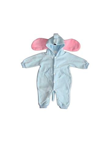 """Bomio Baby Overall """"Elefant"""" aus Fleece 2-lagig"""