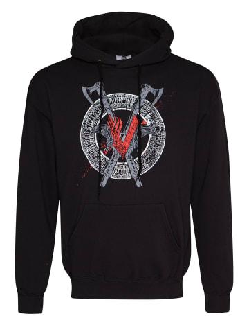 Vikings Kapuzensweatshirt Odin Red in schwarz