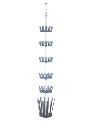 Wenko Teleskop-Schuhregal Achilles, für 30 Paar Schuhe und 6 Paar Stiefel in Grau