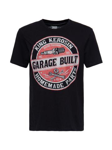 King Kerosin King Kerosin King Kerosin Shirt mit Frontprint im Workerstyle Garage Built in black