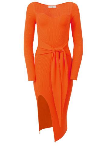 TOPTOP STUDIO Kleid Kleid in orange