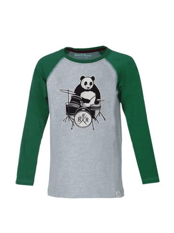 "Band of Rascals Longsleeve "" Panda "" in grün"