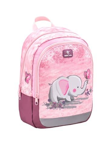 "Belmil Kindergartenrucksack ""Kiddy Pink Elephant"" in Rosa - H 33 cm L 23 cm T 13 cm"