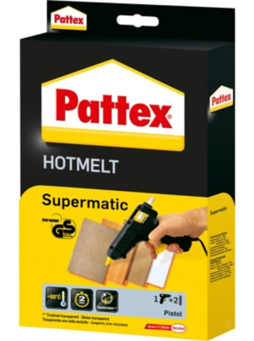 Henkel Pattex Hot Supermatic Heißklebepistole, inkl. 2 Sticks