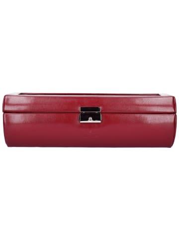 Windrose Merino Uhrenbox 32,5 cm in rot