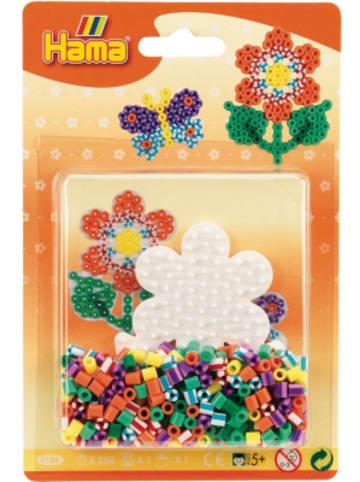 Hama Bügelperlen HAMA 4188 Blister Streifenperlen Blume, 350 midi-Perlen & Zubehör