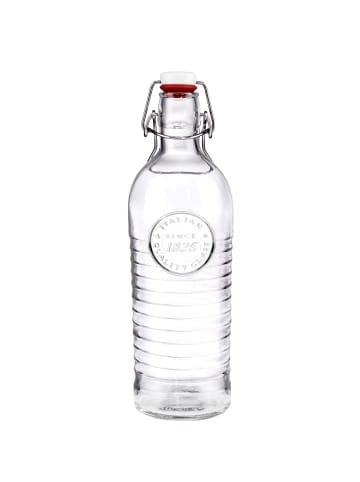 Butlers Glasflasche mit Bügelverschluss RIFFLE in transparent