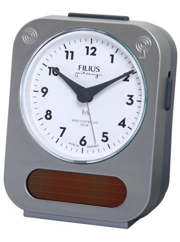 Filius Funk-Solar Wecker Weiß / Silber