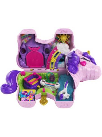 Mattel Polly Pocket Einhorn-Party Spielset, Polly und Lila Puppe und über 25...