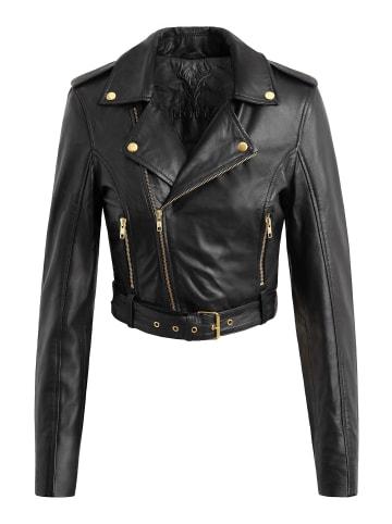 Notyz Bikerjacke Victoria in black gold acc