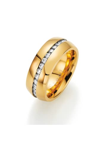 Jacques Charrel Ring Mit Zirkonia in Gold
