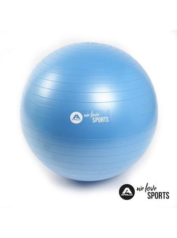 """Apollo ø 65 cm Anti Burst """" Fitnessball """" in blau"""