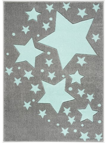 Livone Teppich STARLINE silbergrau/mint