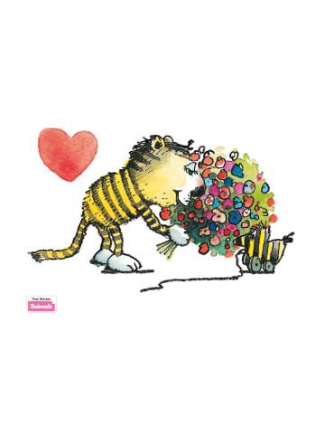 Beiwanda Wandsticker Tiger schenkt Tigerente Blumen