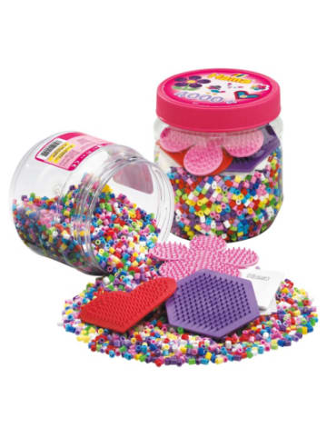 Hama Bügelperlen HAMA 2051 Dose pink mit 4.000 midi-Perlen & Zubehör